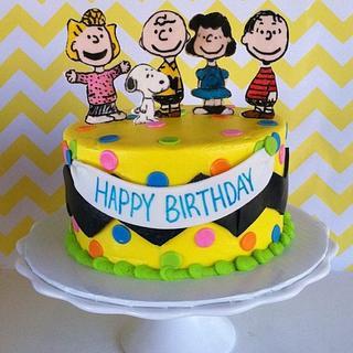 Peanuts Gang Cake
