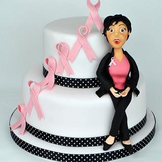 Breast Cancer cake