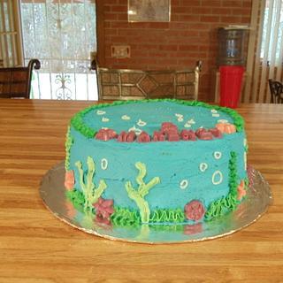 Birthday Under the Sea Cake - Cake by Tamara Bemiss
