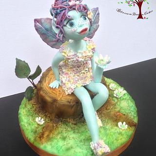 Dorset Blue Fairy - Away with the Fairies - Cake by Blossom Dream Cakes - Angela Morris