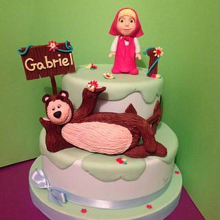 Masha and bear - Cake by SugarRose
