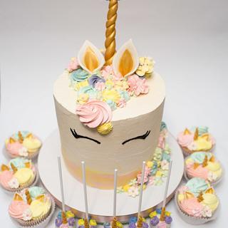 Unicorn party - Cake by Olya