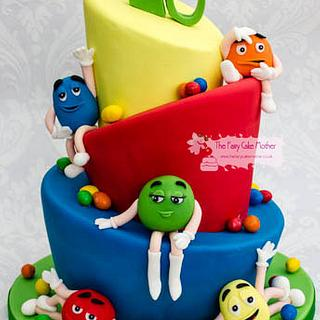 M and M Sweet Cake - Cake by The Fairy Cake Mother