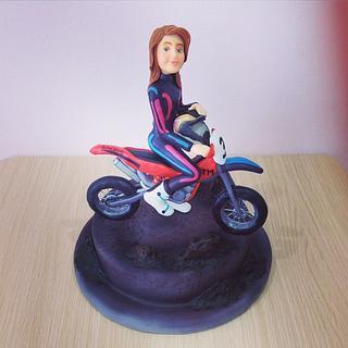 The motocross lady - Cake by Valeria Antipatico