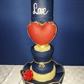 Wedding cake ❤💙