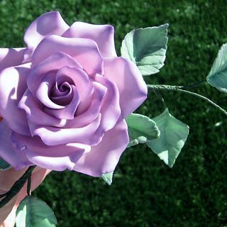Purple Rose - Cake by sking