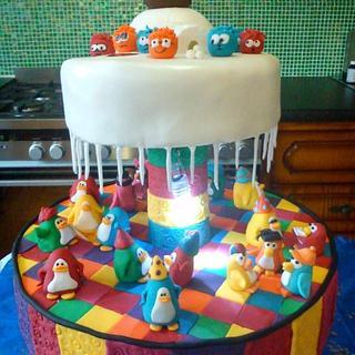 Club Penguin Cake - Cake by sarahf