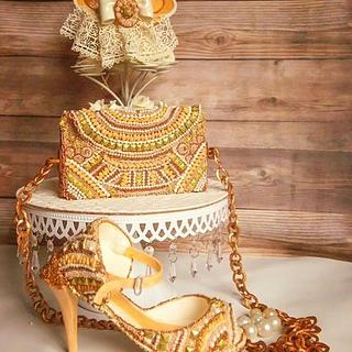 The vintage couture cake