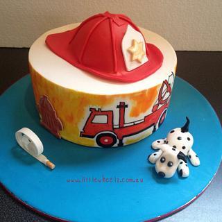 Child's fireman cake
