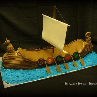 Viking Longship - Cake by Naturepixie