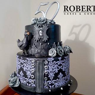 Goth chic-chicken cake