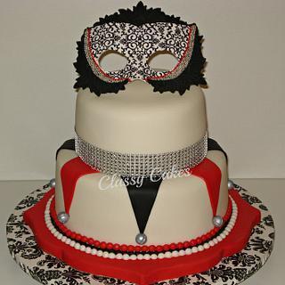 Mardi Gras Sweet 16 - Cake by Classy Cakes By Diane
