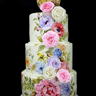 Botanical Painting on Cake