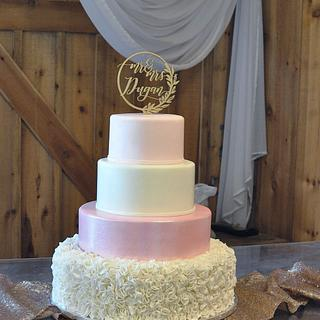 Pink & white with glitter - Cake by Cakes For Fun