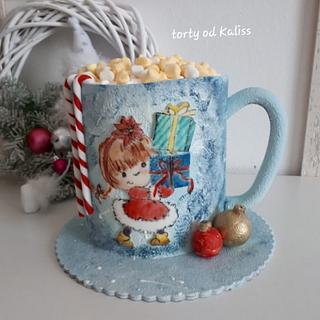 Christmas cup - Cake by Kaliss
