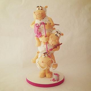 Naughty Sheep Tower Cake - Cake by Puckycakes