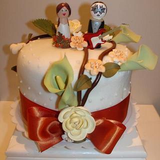 Wedding Cake Top Tier - Cake by Karen Hearty