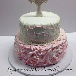 Ruffle Rose Christening