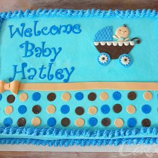 Baby Boy Shower Sheet Cake