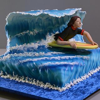 Bodyboarder Cake
