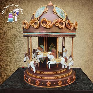 Carousel Cake with motion