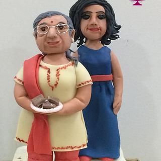 Look alike figurine toppers