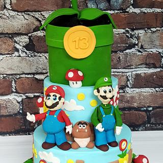 Robyn - Super Mario Birthday Cake - Cake by Niamh Geraghty, Perfectionist Confectionist