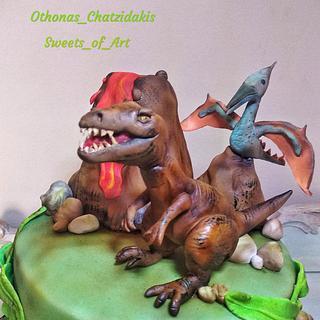 Dinosaurs theme Cake