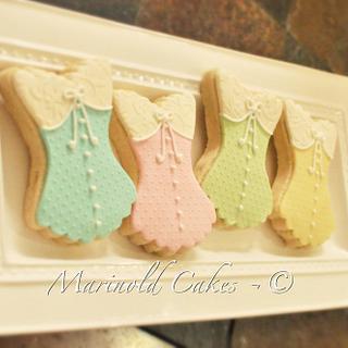 Corset Bridal Shower Cookies