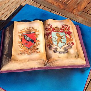 Coat of Arms Book cake