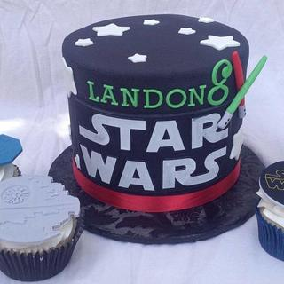 Star Wars Birthday - Cake by The Ruffled Crumb