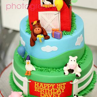 1st Birthday Farm Cake - Cake by Kimberly Cerimele