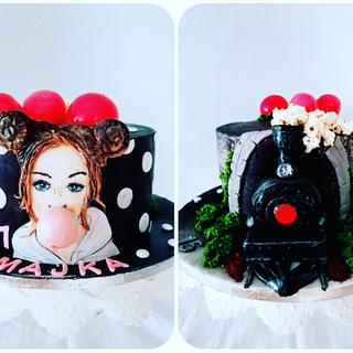 Two cakes in one - Cake by alenascakes