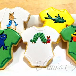 Onesie Cookies Based on Classic Storybooks