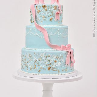{Love Birds} Wedding Cake