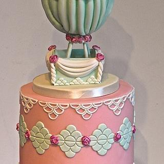 Vintage hot air balloon x