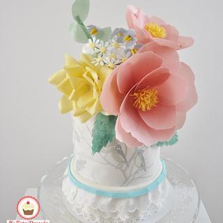 Whimsical cake - Cake by Sweet Flamingos (Mis Tartas Decoradas)