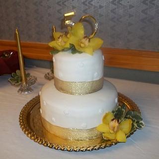 50th Anniversary cake - Cake by Tara MacLean