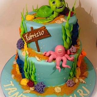 Turtle's tales  - Cake by Angela Cassano