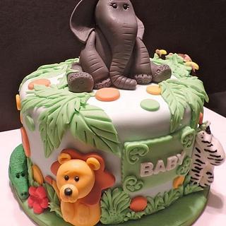 Baby Jungle Buddies - Cake by Lisa