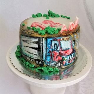 Cake with truck