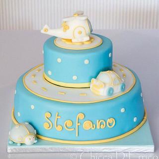 Christening cake for stefano