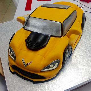 Corvette Stingray car cake