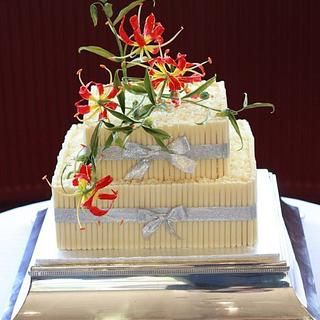 Flame Lily Cake Toppers