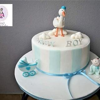 Baby shower cake - Cake by elenasartofcakes