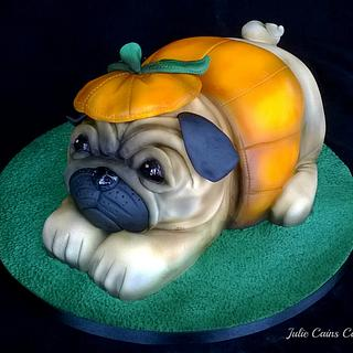 Pumpkin the Pug - Cake by Julie Cain