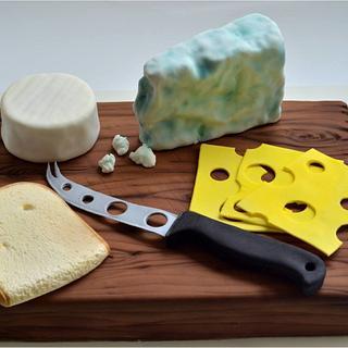 Cheese plate cake