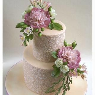 Peony Cake - Cake by Uliana Kotsaba