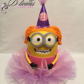 3D Ballerina Minion Cake - Cake by D-licious Cake Art