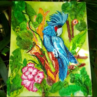 Blue Cockatoo - Magnificent Bangladesh - An International Cake Art Collaboration
